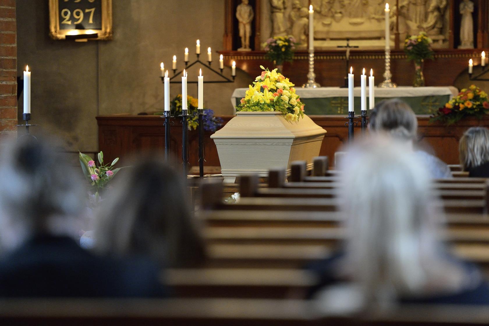 begravning i stillhet