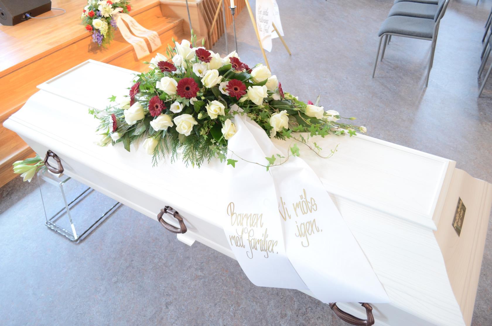 hur skickar man telegram till begravning