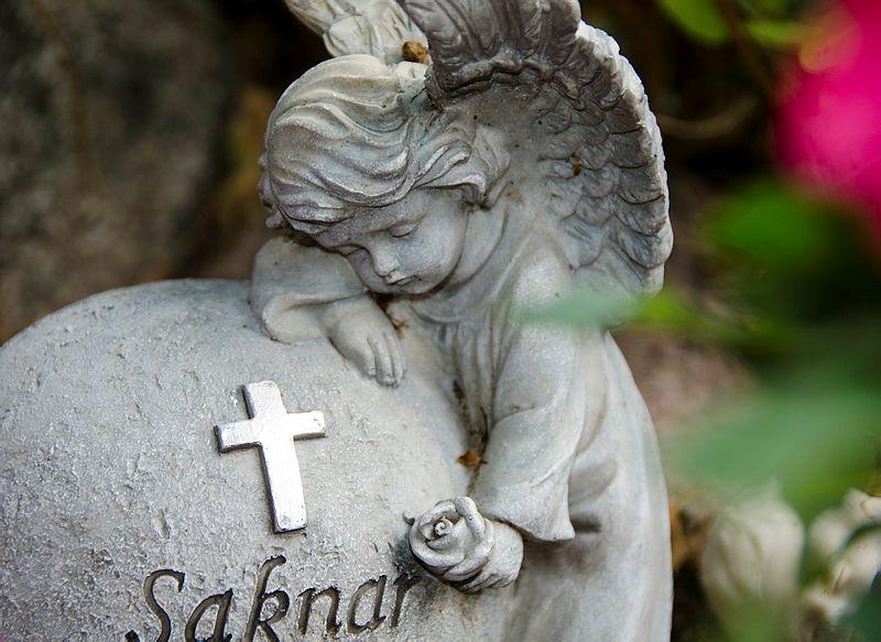 ängel till grav