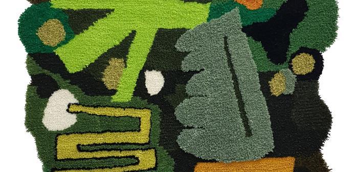 Graffitimålaren som via konsthögskolestudier tagit sig in i det offentliga rummet. Förutom måleri arbetar han med ett textilt uttryck.