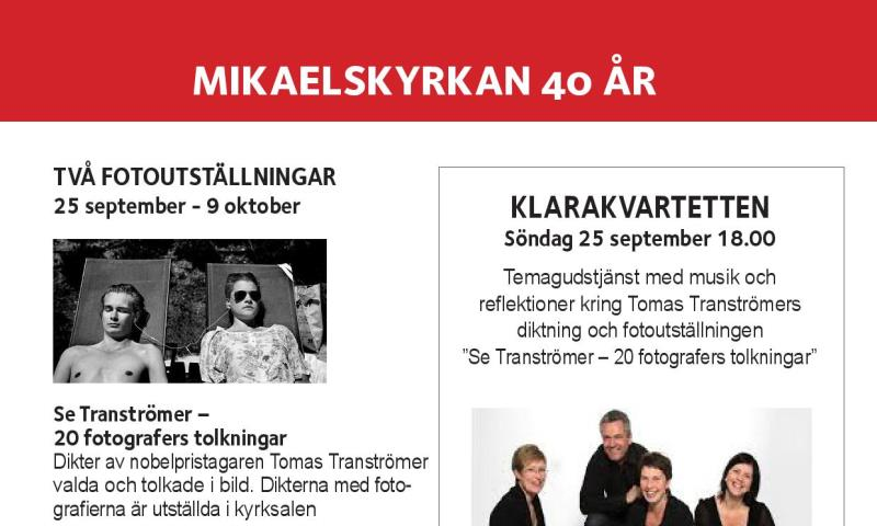 Firande med olika program 25 september - 2 oktober