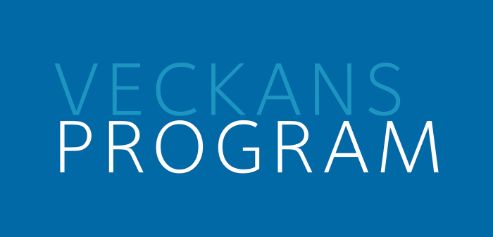 Program för 20–27 september 2019.